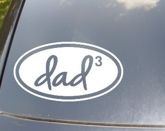 Nerd Dad of...Car Vinyl Decal Sticker
