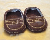 "18"" Doll Shoes - Dark Brown Penny Loafers"