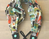 scarf camera strap - retro camera color