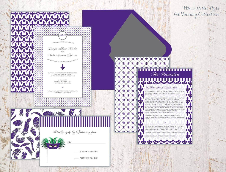 mardi gras wedding invitations - 28 images - blue and black mardi ...