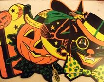 Vintage NOS Beistle Halloween Paper Die Cut Display Crafting Supply Embellishment