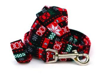 Christmas Dog Leash - Ugly Christmas Sweater - 6 Feet Long