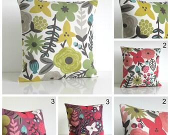 Designer Pillow Cover, Cushion Cover, Floral Pillow Sham, Throw Pillow, Accent Pillow, Couch Pillow Covers - Potpourri