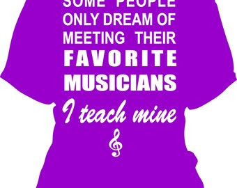 Music Teacher Tee Shirt