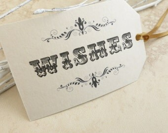 Wish Tags, Wedding Wishing Tags Set Of 50