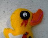 Creepy Little Duck Key Chain Halloween