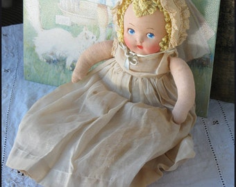 Vintage Mask Face Fabric Doll / Steal My Heart Vintage Doll / Vintage Doll