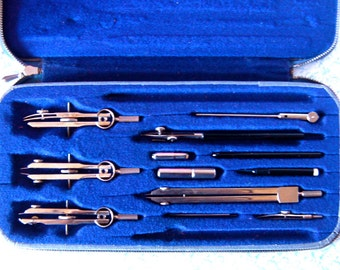 SALE Vintage Lietz Drafting Tools, 12 Piece Banner Set, German Made