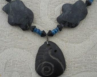 Celtic Raven Carved Morrigan Goddess Necklace