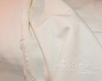 ORGANIC Fleece, Mod Basics Fleece, Solid Cream Fleece by Jay-Cyn Designs from Birch Fabrics, Fat Quarter, Half Yard or more
