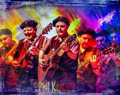 "Extraordinary Talented Guitarist Phil Keaggy the founder of the Rock Group ""Glass Harp"" No.Tx - A Fine Art Music Portrait Photograph"