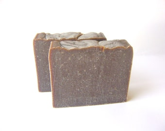 Chocolate Hazelnut Soap, Cold Process Soap with Shea and Cocoa Butter bar soap