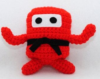 Mini Ninja Plush - Hot Red