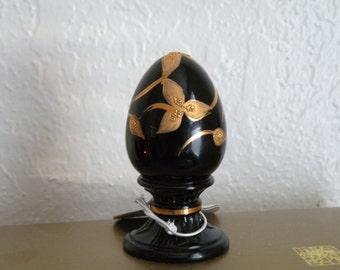 Vintage FENTON black gold limited edition egg