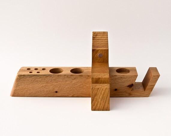 Schreibtischplatte holz  Großer Schreibtisch Organizer Holz / Büro Organisation