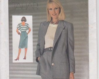 Misses Suit Pattern Lined Jacket Pullover Top Skirt Business Size 14 Uncut 1985 Simplicity 6981