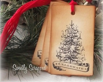 Christmas Tree, Celebrate Tags, Large