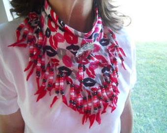Bandanas, Neck Scarf, Lips, Wearable Art, Western Wear
