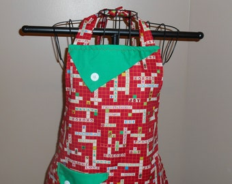 Christmas Crosswords Puzzle Apron