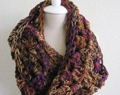 Handmade Crochet Infinity Scarf- You pick the color- Infinity Neck Warmer- Scarf- Cowl-Shell Stitch- Varigated