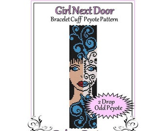 Bead Pattern Peyote(Bracelet Cuff)-Girl Next Door