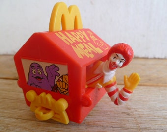 Vintage Ronald McDonalds Happy Birthday Train Car Toy Happy Meal Mattel