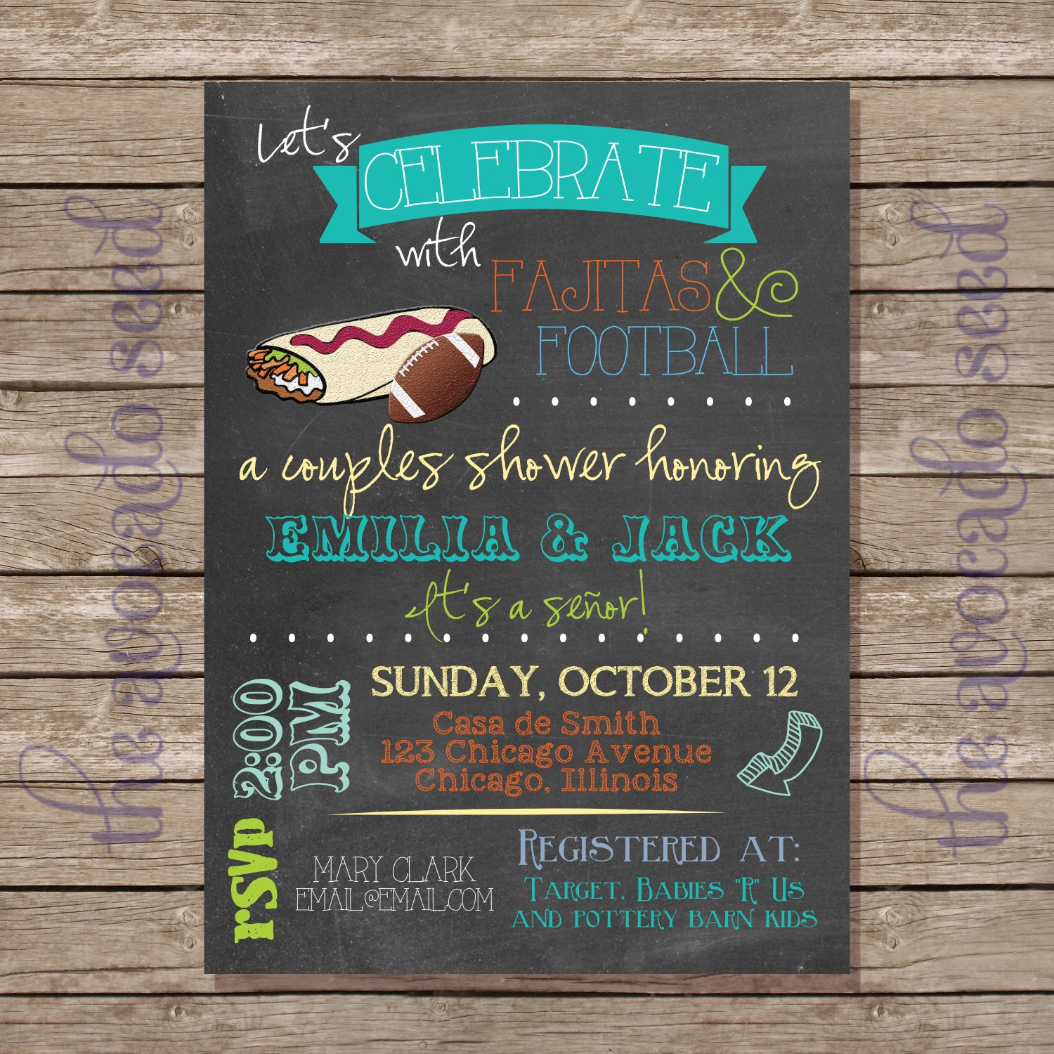fajitas and football fiesta mexican spanish baby shower