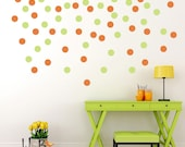 Polka Dots wall stickers 2-color decal set, confetti dots, wall patterns 3 inch dots