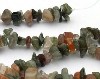 Natural Stone Lodolite Large Chip Bead Strands
