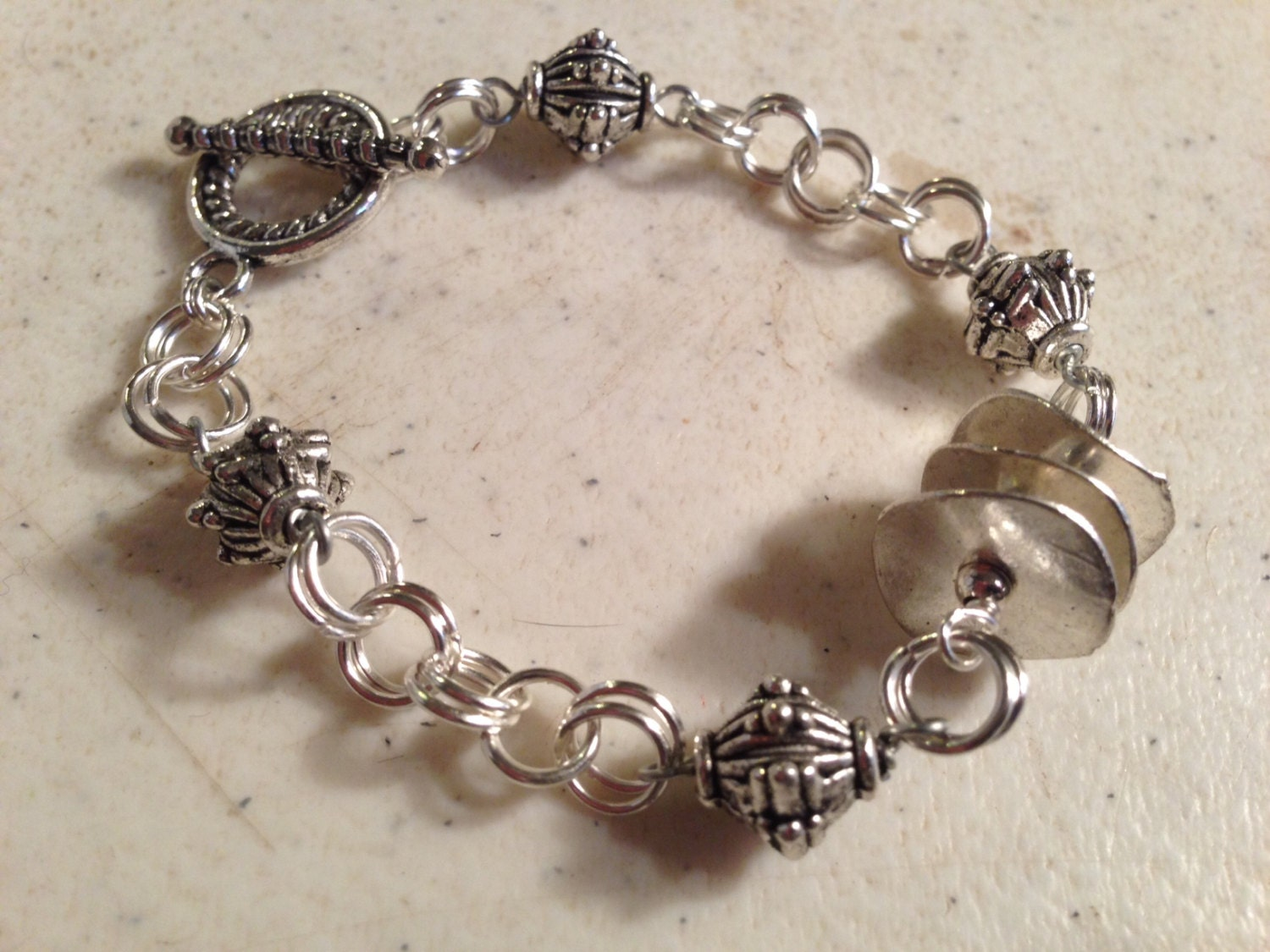 Silver Bracelet - Chainmaille Jewelry - Funky Jewellery - Fashion ...