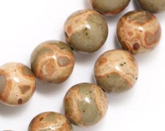 Safari Jasper Beads - 10mm Round - Limited Quantity