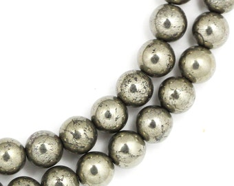 Pyrite Beads - 6mm Round - Full Strand