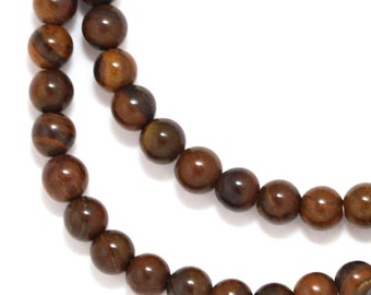 Tiger Iron Beads - 4mm Round - Half Strand