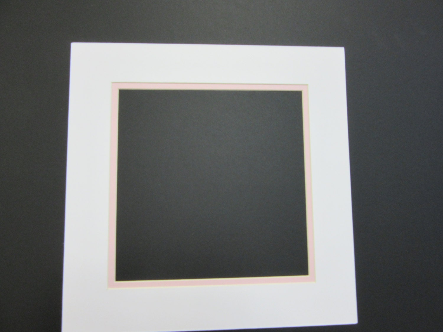 Picture Framing Mat Set Of 12 White With Baby Pink Liner