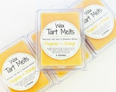 SOY Wax Tart Melt - Magnolia & Orange, 3 oz, Beeswax, natural, fragrance, candle, melts, home, house, gift, citrus, clean scent
