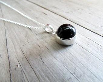 onyx necklace round onyx necklace black stone dark stone