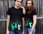 Men's Zombie shirt, XLarge 8 bit zombies t-shirt