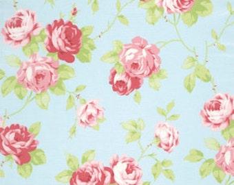 Tanya Whelan Fabric Lulu Roses Lulu in Sky PWTW092 Sky One Yard