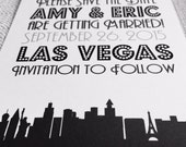 Las Vegas Silhouette Save the Date or Invite
