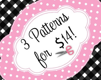 "PDF Sewing Patterns for 18"" American Girls Dolls - Buy any 3"