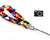 SPECIAL: Buy Three Get One Free > Colorful Triangles - Camera Wristlet