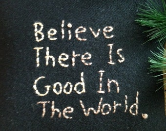 Mini Pillow Saying Quote Embroidery Be The Good JKB