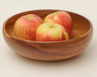 Wood Serving Bowl, Turned Wood Bowl, Canarywood Serving Bowl, Salad Bowl