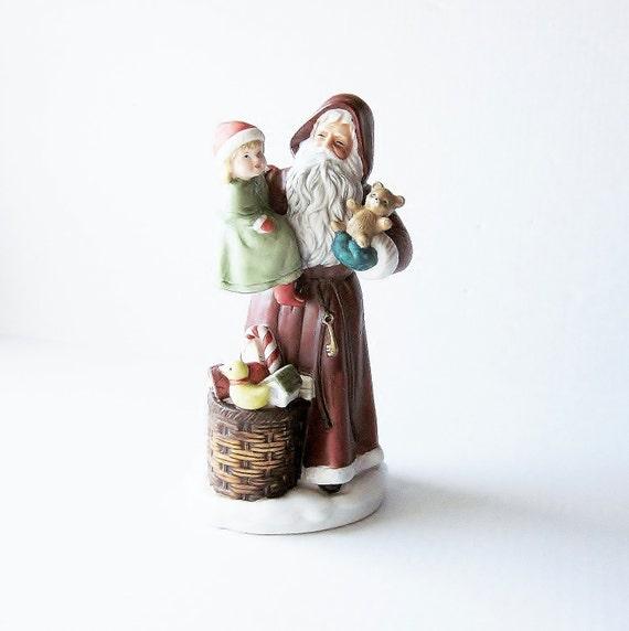 Vintage st nicholas old world santa figurine homco porcelain