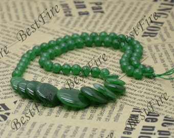 Green Jade Round beads Gemstone,Jade loose beads,round Jade bead loose strand 15 inch