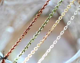 """10pcs High Quality 31.5"""" Long Silver / Golden / Bronze Finished Chain Necklace (CHAINSS-80.81.82)"""