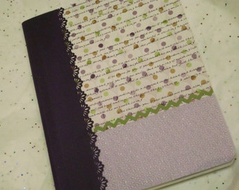 pretty purple covered composition blank journal notebook planner scrapbook smash book