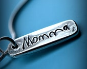 Childs ACTUAL Handwritten Memorial Necklace Silver Kids Signature Charms Mommy Necklace- Valentine's Day Gift by Lilybud
