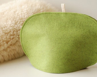 Small Tea Cozy, Pure Wool Felt Green