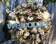 Camo Wreath, Camo Decor, Wreath, Camp Decor, Camo Wedding, Bridal Shower Gifts, Bridal Shower Decor